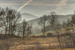 Krajobraz przedzimowy. Okolice Miłkowa.