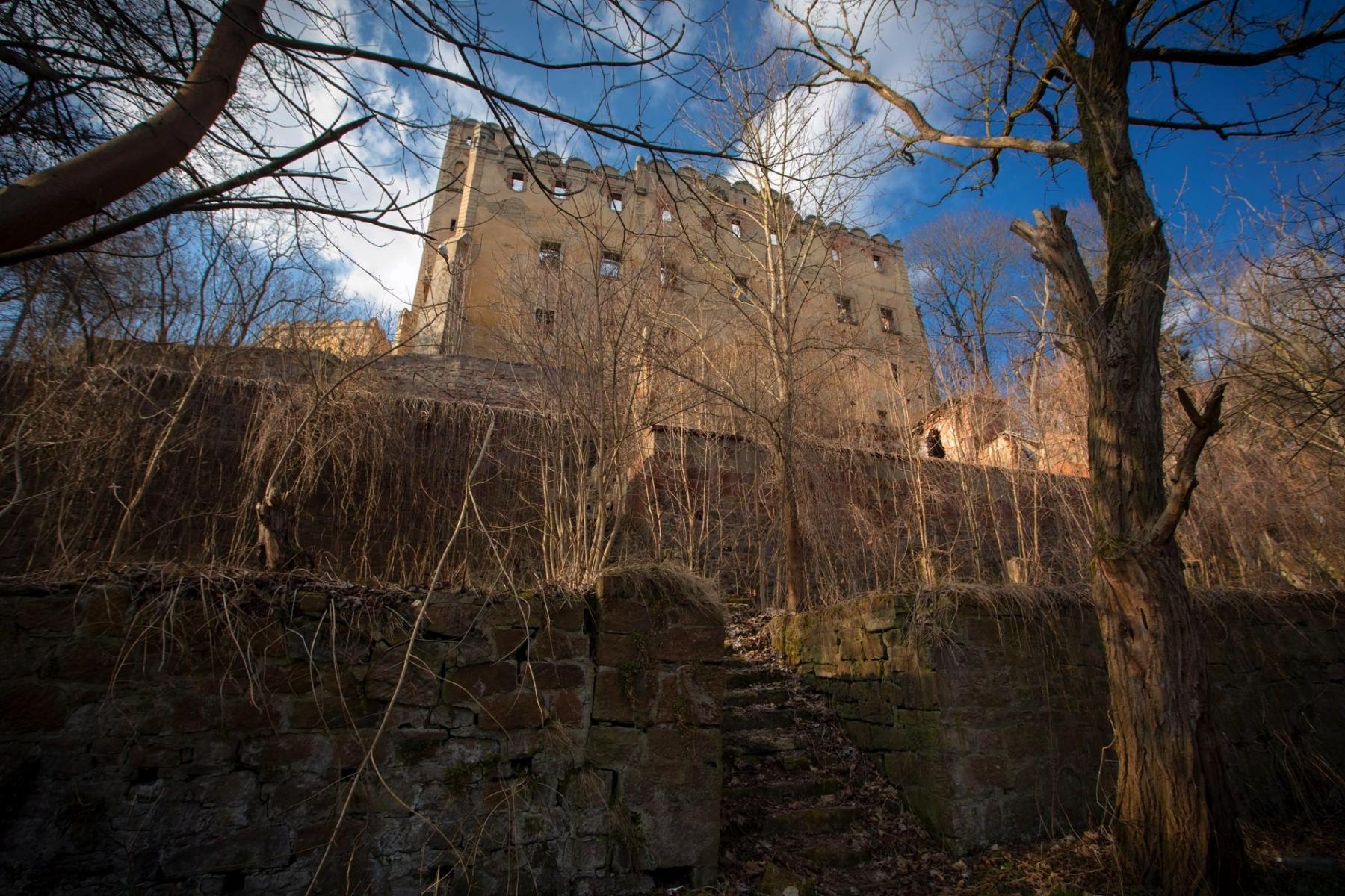 Tarasy ogrodowe. Zamek Ratno Dolne