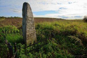 Granica Św. Jana - monolityczny słup graniczny z XIII w