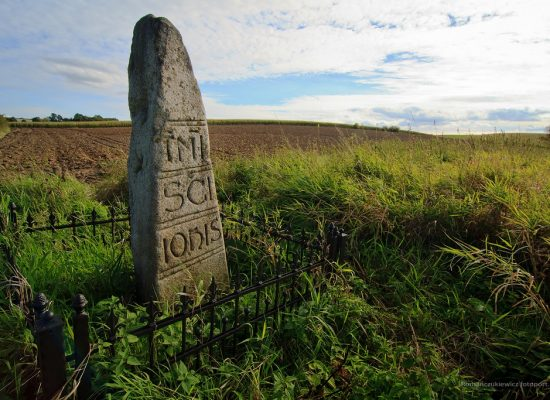 Granica Św. Jana - monolityczny słup graniczny zXIII w