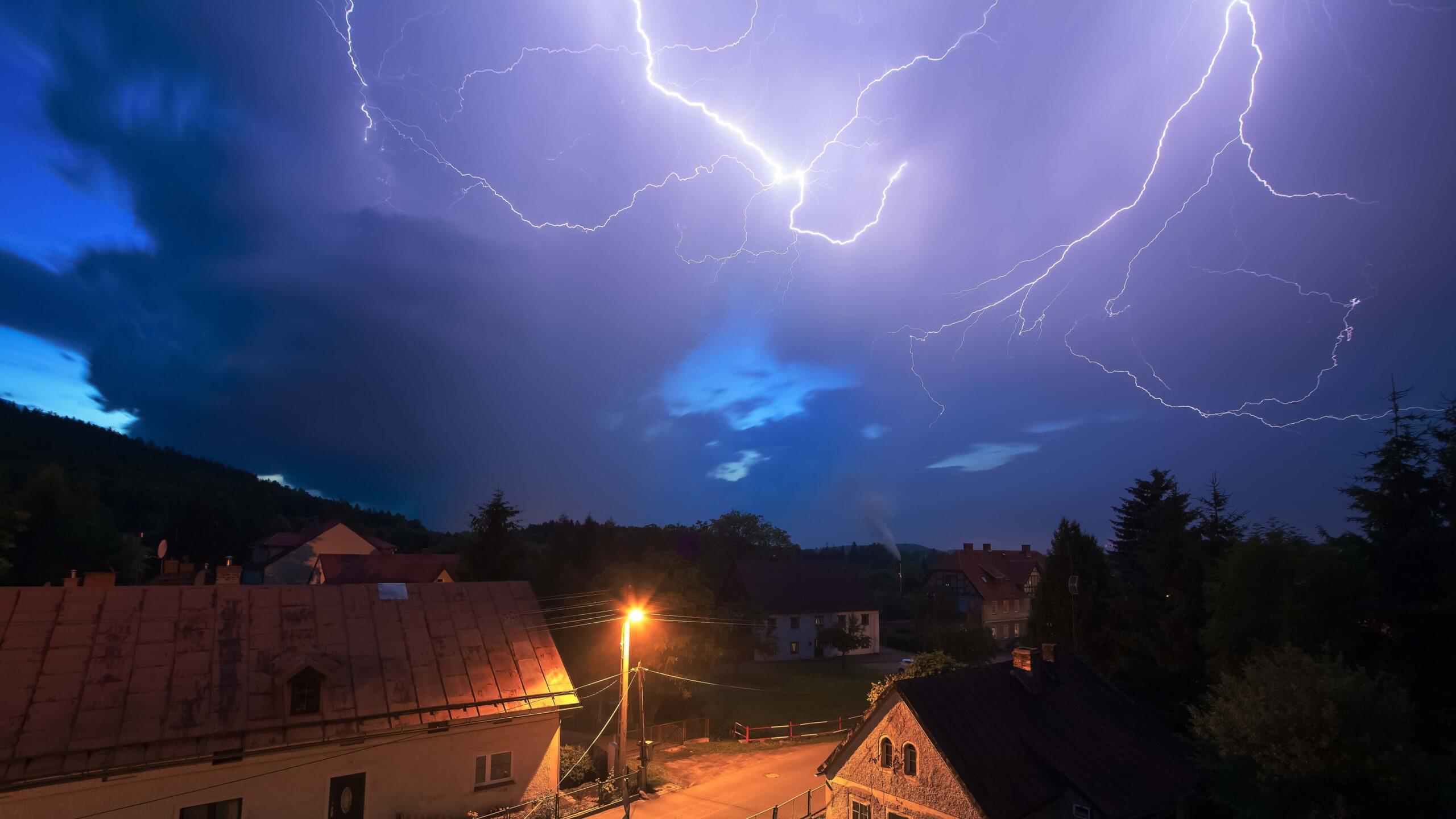 Burza, wyładowania elektryczne fot.|Krzysztof Romańczukiewicz