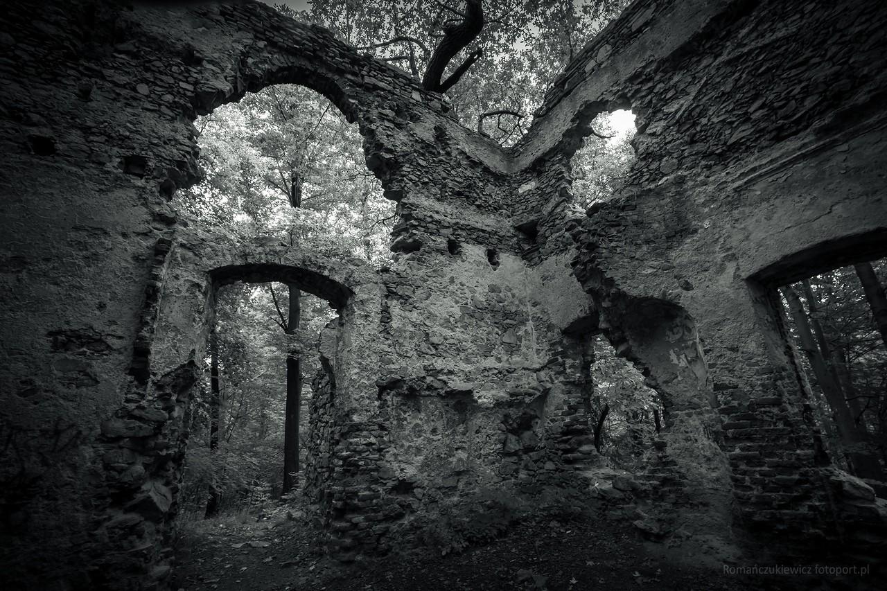 Radziwiłłówka - ruiny zameczku myśliwskiego zXVIII wieku