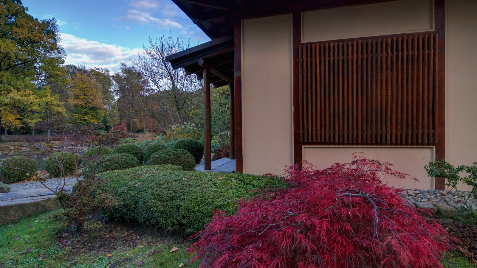 Park Japoński - pawiloh herbaciany