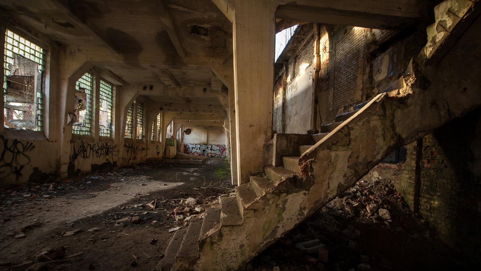 Malczyce - ruiny dawnej fabryki celulozy