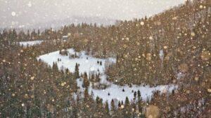 Słoneczna śnieżyca Gorce