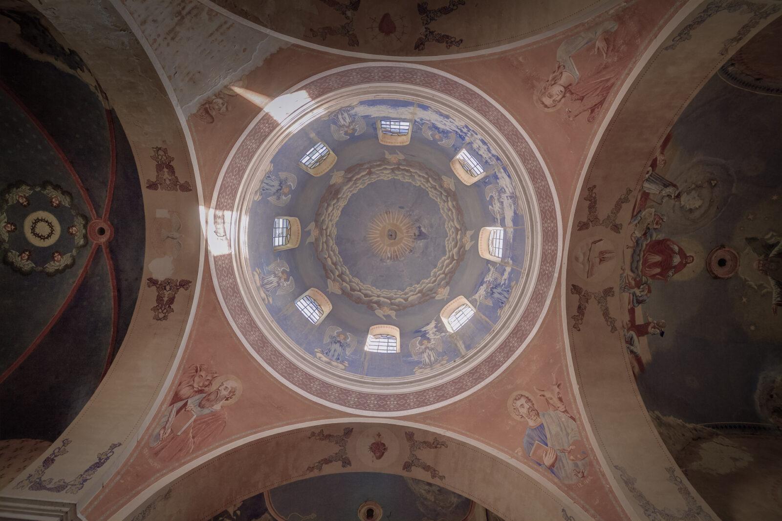 Cerkiew wStarych Oleszycach. Polichromie sklepienia