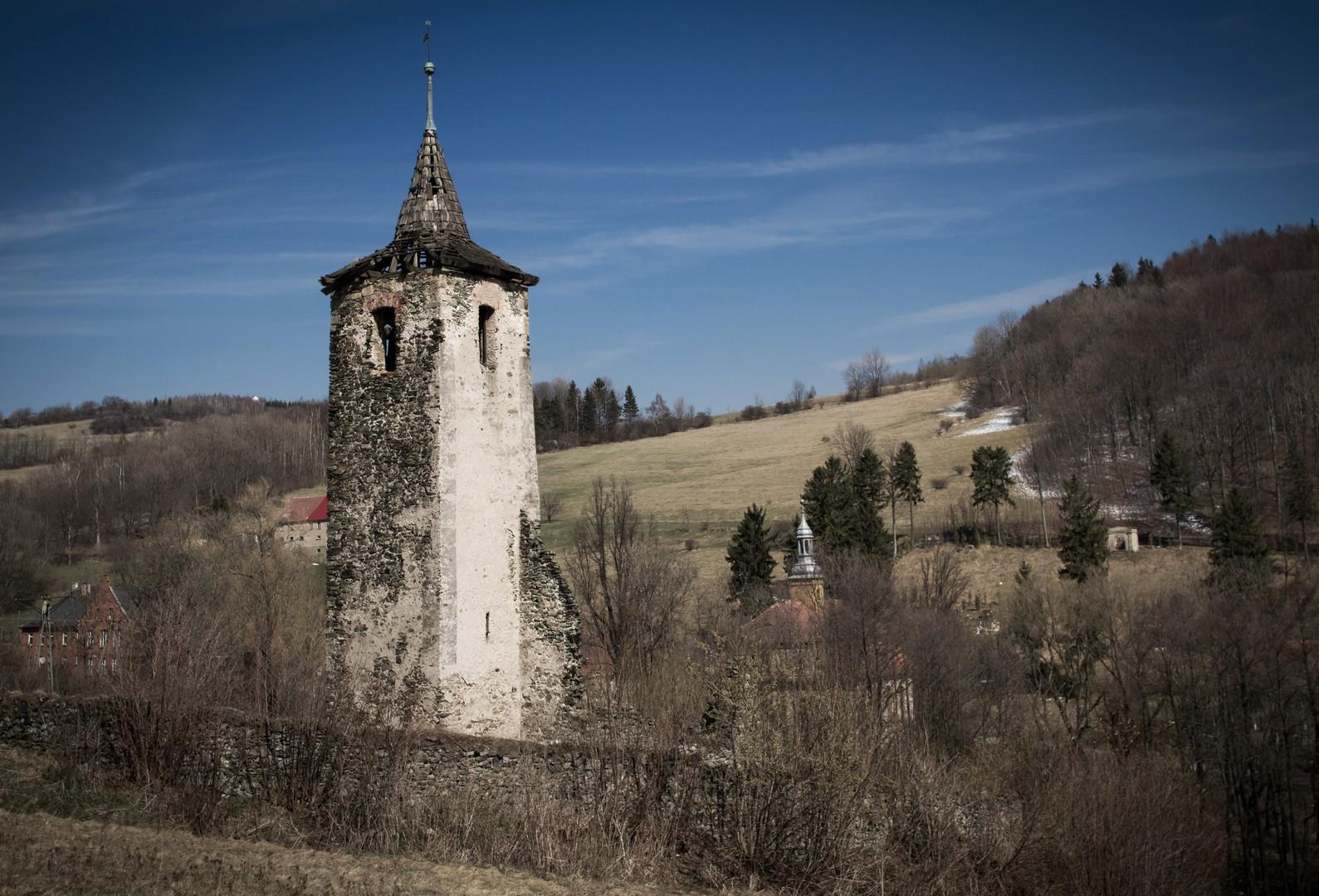 Dawny kościół w Pastewniku -Ruina